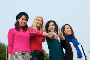 Girls from multi-cultural Australia