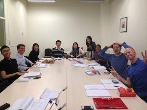 Chinese class having fun