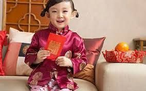 Chinese girl with hong bao