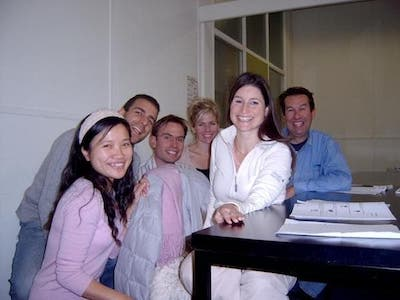 Chinese students with Jingjing